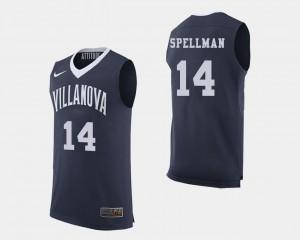 Basketball Villanova University Navy #14 For Men's Omari Spellman College Jersey