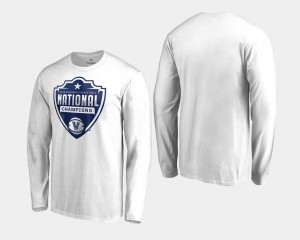 Villanova White College T-Shirt Men's 2018 Cut Long Sleeve Basketball National Champions