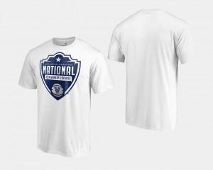 Men's Villanova Wildcats White College T-Shirt 2018 Cut Basketball National Champions