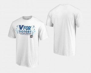 College T-Shirt Basketball National Champions Men 2018 Goaltend White Wildcats