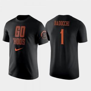 #1 Francesco Badocchi College T-Shirt Basketball 2 Hit Performance Black For Men Virginia