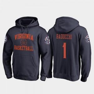 For Men's Navy Francesco Badocchi College Hoodie In Bounds #1 Virginia Cavaliers Basketball