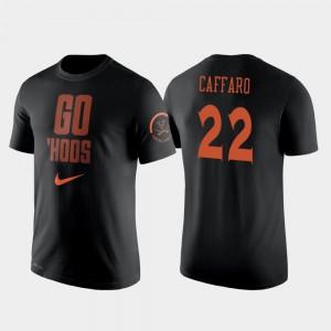 Basketball #22 Black Francisco Caffaro College T-Shirt Men's Cavaliers 2 Hit Performance