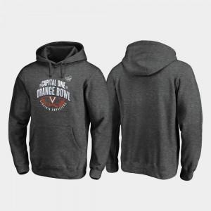 College Hoodie Heather Gray Scrimmage Virginia Cavaliers 2019 Orange Bowl Bound For Men