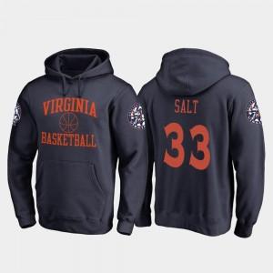 UVA Cavaliers Jack Salt College Hoodie In Bounds #33 Basketball Navy Mens