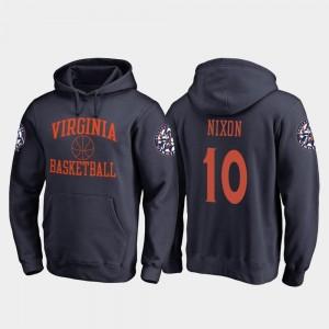 Jayden Nixon College Hoodie UVA Basketball Navy In Bounds Mens #10
