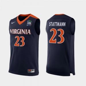 Replica Kody Stattmann College Jersey Navy Men's Cavaliers #23 2019 Final-Four
