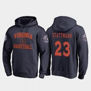 Basketball Kody Stattmann College Hoodie For Men's #23 Navy In Bounds Virginia