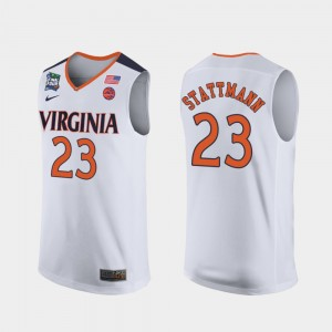 White Cavaliers 2019 Final-Four #23 Kody Stattmann College Jersey Men