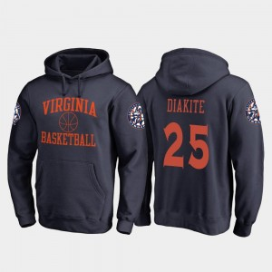 Virginia Cavaliers Basketball Mamadi Diakite College Hoodie For Men In Bounds #25 Navy