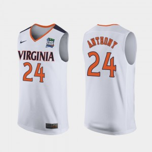 #24 Marco Anthony College Jersey Replica Cavaliers Mens 2019 Final-Four White