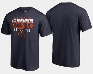 University of Virginia Basketball Conference Tournament College T-Shirt Navy 2018 ACC Champions Men