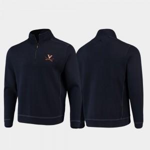 Sport Nassau Cavalier College Jacket For Men Navy Half-Zip Pullover Tommy Bahama