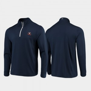 Cavalier Gameday Navy College Jacket Quarter-Zip Performance Men