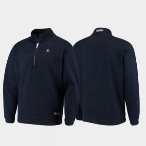 Navy Quarter-Zip College Jacket For Men University of Virginia Shep Shirt