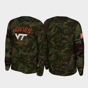 Camo Legend Long Sleeve Virginia Tech Men's College T-Shirt 2019 Veterans Day