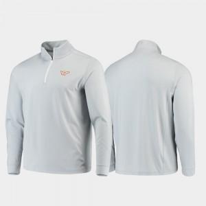 VA Tech Quarter-Zip Performance Gameday Gray College Jacket Men's