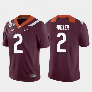 Football #2 Maroon Men Game Virginia Tech Hokies Hendon Hooker College Jersey