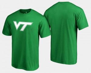 Kelly Green Men's College T-Shirt VT Hokies St. Patrick's Day White Logo Big & Tall