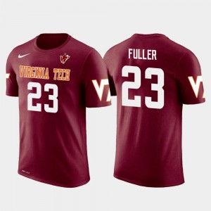 Kansas City Chiefs Football Future Stars Kendall Fuller College T-Shirt Crimson Virginia Tech Hokies Mens #23