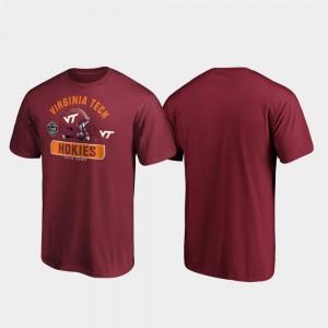 College T-Shirt For Men's VA Tech Maroon 2019 Belk Bowl Bound Spike