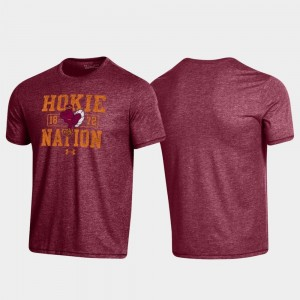 Virginia Tech Maroon Bi-Blend College T-Shirt Property Of Stack Mens