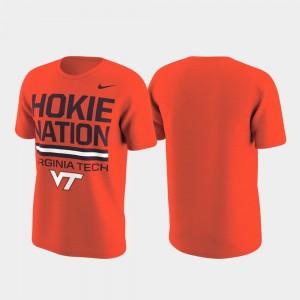 College T-Shirt For Men Performance Hokie Orange Local Verbiage