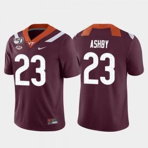 Football Rayshard Ashby College Jersey VA Tech Game #23 Men Maroon