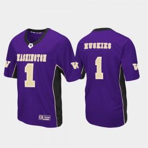Men's UW Huskies Purple College Jersey #1 Football Max Power