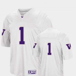Washington Huskies Mens Colosseum 2018 White #1 Football College Jersey