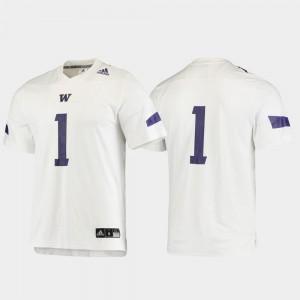 Football Men's University of Washington #1 Replica College Jersey White