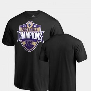 2018 PAC-12 Football Champions Black Mens College T-Shirt Big & Tall Washington Huskies