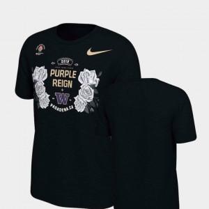 College T-Shirt Verbiage Washington For Men 2019 Rose Bowl Bound Black