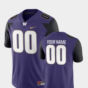 #00 2018 Game Football University of Washington Men's Purple College Customized Jersey
