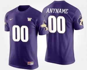 Purple College Customized T-Shirt For Men Washington Huskies #00