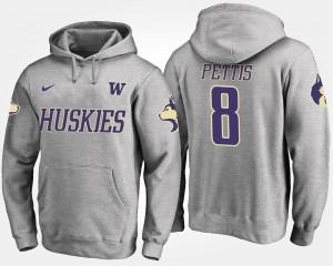 University of Washington Gray Dante Pettis College Hoodie #8 Men