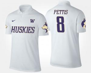 Men University of Washington Dante Pettis College Polo White #8