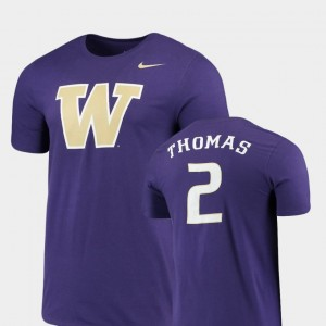 Purple Replica Washington Future Stars Isaiah Thomas College T-Shirt Mens #2