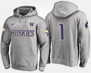 Gray John Ross College Hoodie Washington Huskies For Men #1