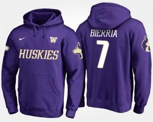 #7 UW Keishawn Bierria College Hoodie For Men Purple