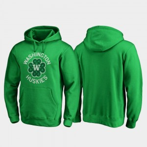 Luck Tradition Washington Huskies For Men College Hoodie St. Patrick's Day Kelly Green