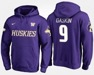Myles Gaskin College Hoodie Men's #9 Purple UW Huskies