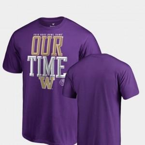 Counter Big & Tall Men UW Huskies 2019 Rose Bowl Bound College T-Shirt Purple