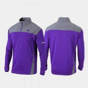 College Jacket Purple Washington Huskies For Men's Quarter-Zip Pullover Omni-Wick Standard