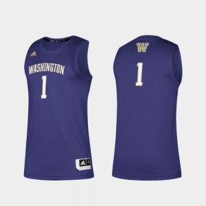 College Jersey Swingman Basketball UW Huskies For Men's Basketball Swingman Purple #1