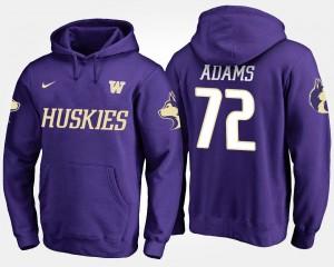For Men's UW #72 Trey Adams College Hoodie Purple