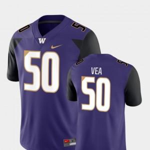 Football Men's Vita Vea College Jersey UW Huskies #50 Game Purple