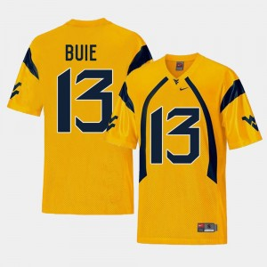 WV Andrew Buie College Jersey Football Gold For Men #13 Replica