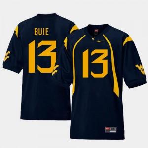 Football Men West Virginia University Replica Andrew Buie College Jersey Navy #13