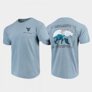 College T-Shirt Men Mountaineers Blue State Scenery Comfort Colors